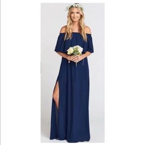 Hacienda Maxi Dress - Rich Navy Crisp